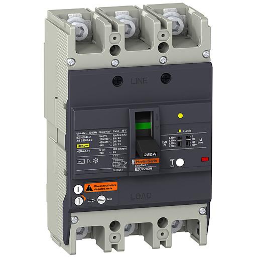 Picture of ELCB Schneider EZCV250H3080 80A 36kA 3P