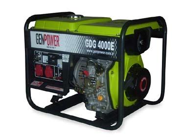 Picture of Máy phát điện chạy dầu diesel Genpower 4 KVA , 230V - GDG4000E