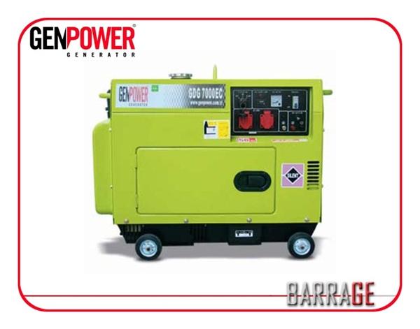Picture of Máy phát điện chạy dầu diesel Genpower 4 KVA , 230V - GDG4000ECS