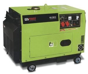 Picture of Máy phát điện chạy dầu diesel Genpower  7 kVA , 230V - GDG7000E