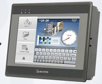 Picture of  EMT3070A màn hình cảm ứng HMI WEINTEK 7 INCH MẦU