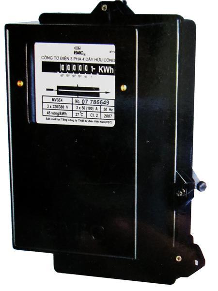 Picture of Công tơ 3 pha Emic 5/10A 3x100, 2 phần tử