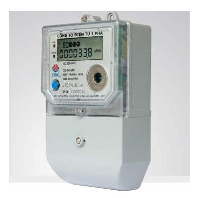 Picture of Công tơ điện 1 pha 220V Emic 10/80A E1-1E2b3T