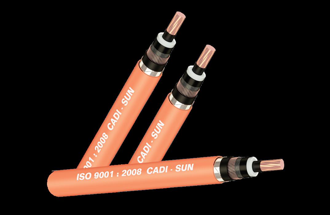 Picture of Cáp 1 lõi đồng, màn chắn băng đồng, không giáp, bọc PVC Cadisun-CXV/CTS-W 1x185-24kV