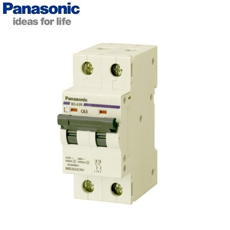 Picture of MCB Panasonic BBD2102CNV 2P, 10A, 10kA