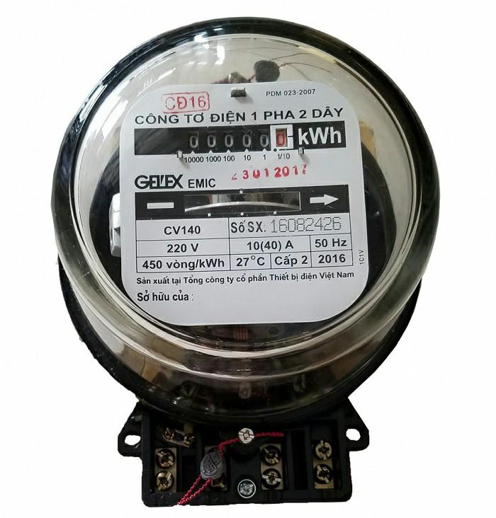 Picture of Công tơ điện Emic 1 pha 2 dây gián tiếp 5(6)A 220V