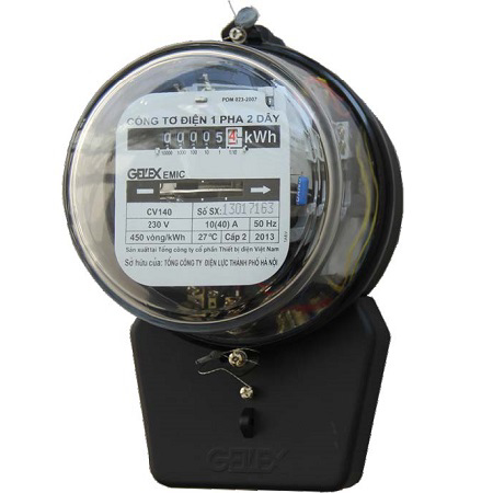 Picture of Công tơ điện 1 pha Emic 10/30A Nắp thủy tinh