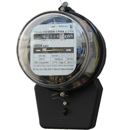 Picture of Công tơ điện 1 pha Emic 3/12A Nắp thủy tinh